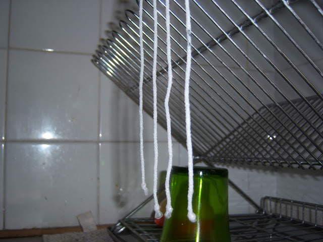 Separamos una a una las mechas y las dejamos secar en vertical