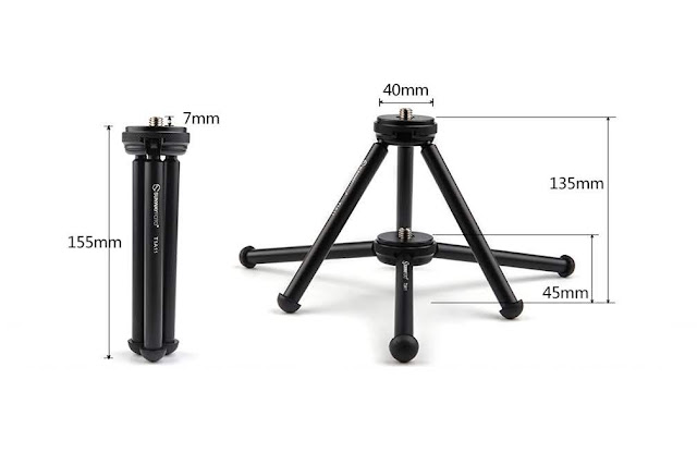 Sunwayfoto T1A11 II height dimensions