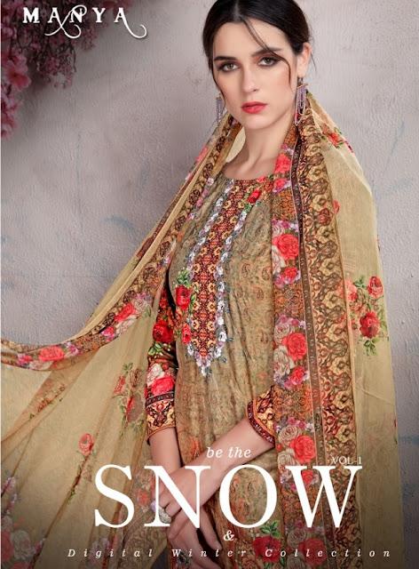 Manya Snow Pashmina Winter Salwar kameez Diwali Collection