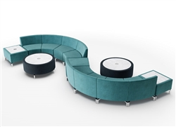 Serpentine Seating Configuration