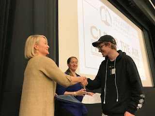 SFUSD student Cole Pepper was among the winners at Breathe California's 2019 Clear the Air Film Fest