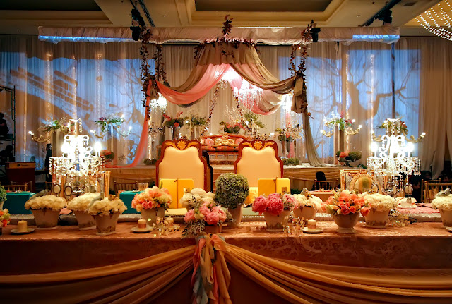 Malay wedding setup