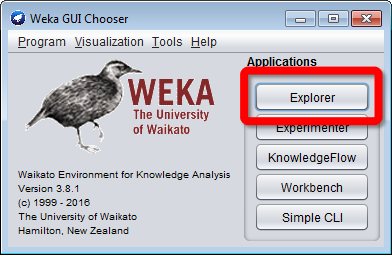 Weka GUI Chooser E Program Visualization To Help 2 WEKA [ ﹤ ! of Waikato o m JnowedmFew ueusposswasosmuamswpa m Workoenen oon 21s The University of Wat ampecu Halon new Zealand