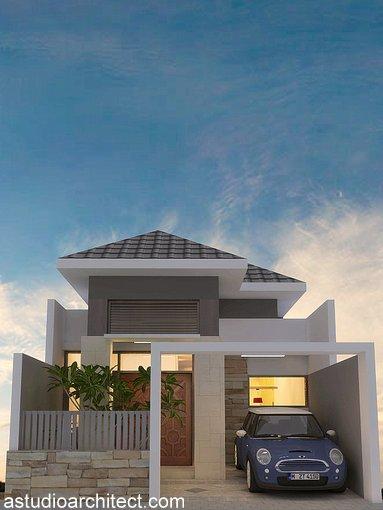 Rumah model sederhana lahan 6m