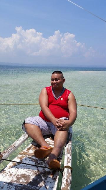 Look at the clear waters at Campalabo sandbar