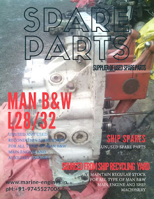 MAN B&W, MAN B&W L28/32, used, unused, marine, spare parts, Ship machinery, unused, Engine Room, Ship, Supplier, Sale, used, recondition
