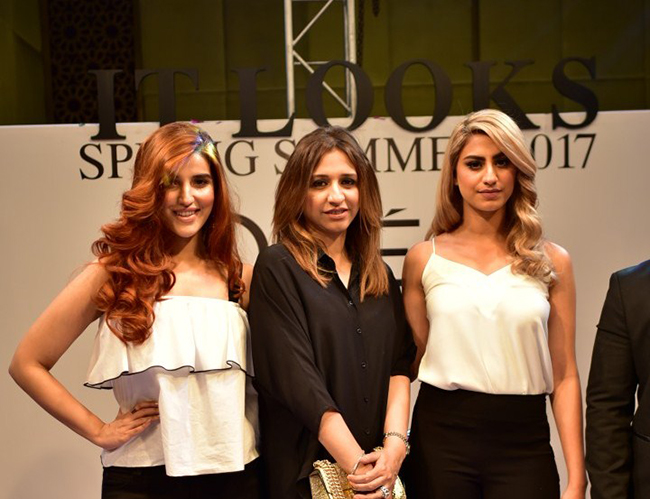 L'Oreal Professionnel Local Spokesperson Hareem Farooq, Stylist Meher Najeeb  and IT Girl Rehmat Ajmal at IT Looks 2017 Karachi