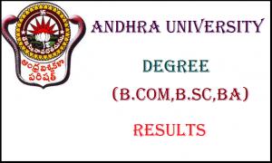 Andhra-University-2nd-sem-Degree-BSC-B.Com-BA-Results-May 2017