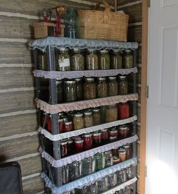 My Frugal Ways this Past week-Cleaned the pantry shelf