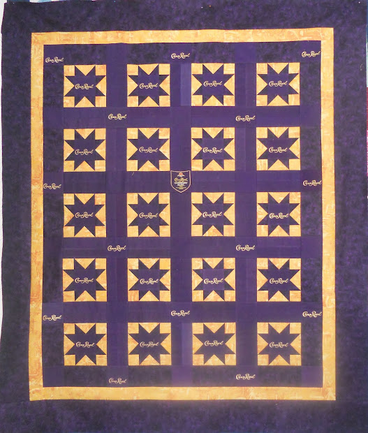 Katie' Quilts And Crafts Crown Royal Quilt Finished