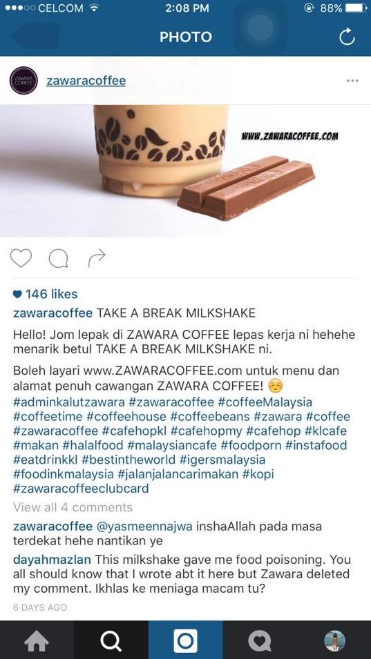 """""""Sumpah Aku Takkan Datang Ke Zawara Coffee Dah"""""""