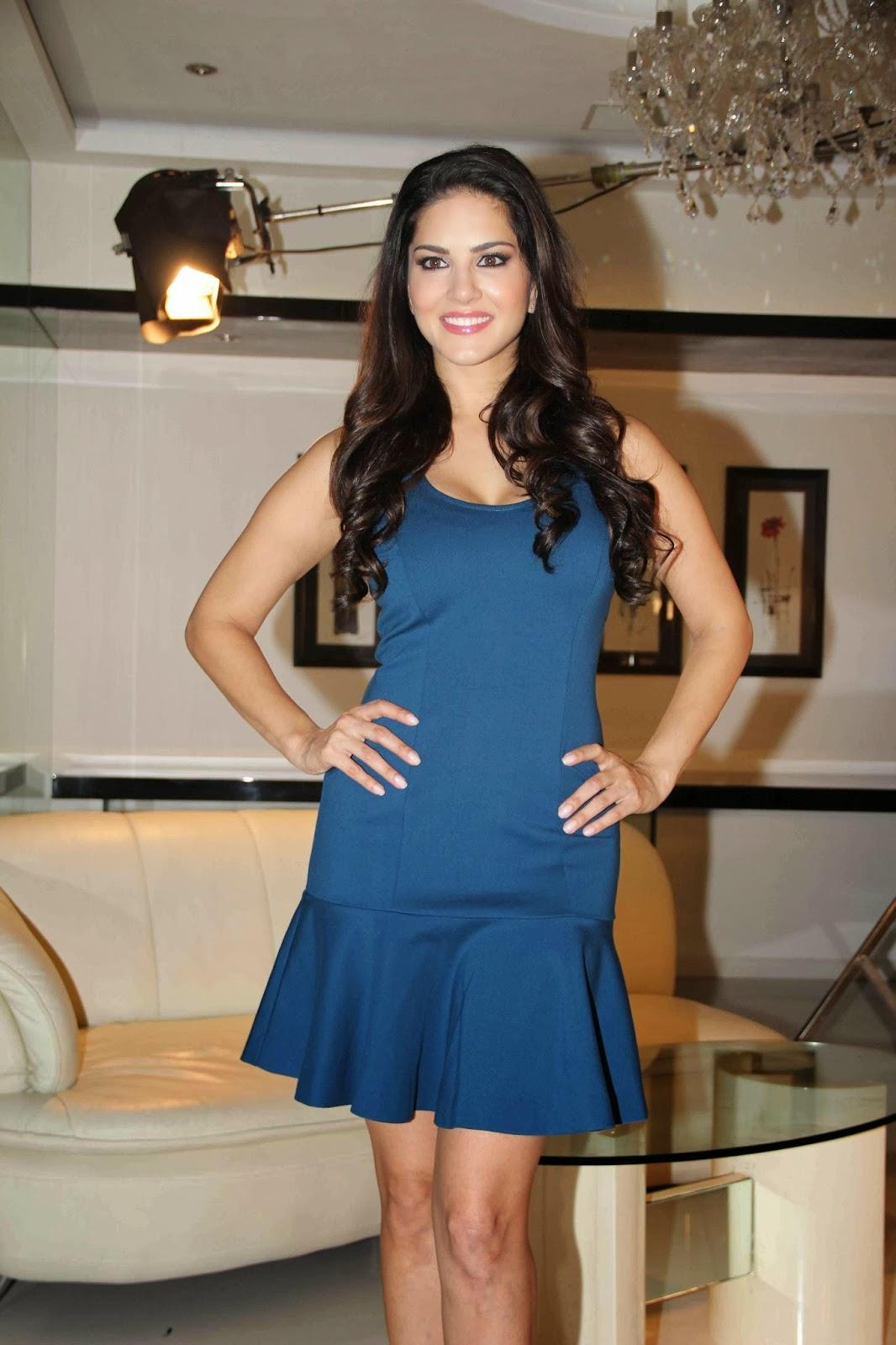 Sunny leone photos in short dress at mtv webbed in mumbai drama series shooting