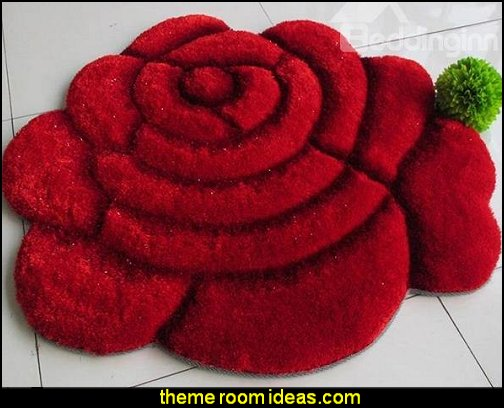 3D Blooming Rose area rug