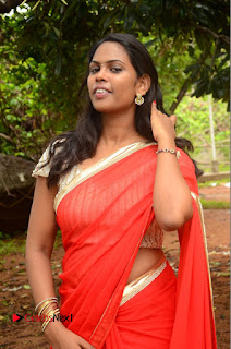Rishika Pictures in Red Saree at Lovers Park Movie Opening ~ Bollywood and South Indian Cinema Actress Exclusive Picture Galleries