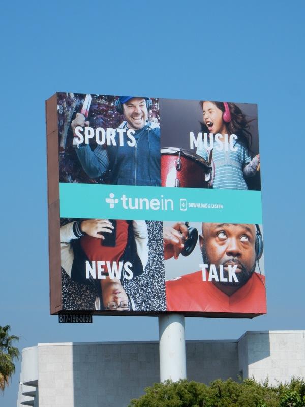 TuneIn radio app billboard