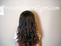 making curls with a curling iron