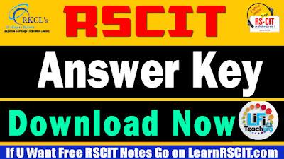 Rscit answer key 3 March 2019, Rscit 3 March 2019 answer key, Rscit answer key 3 March 2018, Rscit answer key 2019, Rscit result 2019 answer key, Vmou rscit answer key 2019, Rkcl answer key, Rscit answer key