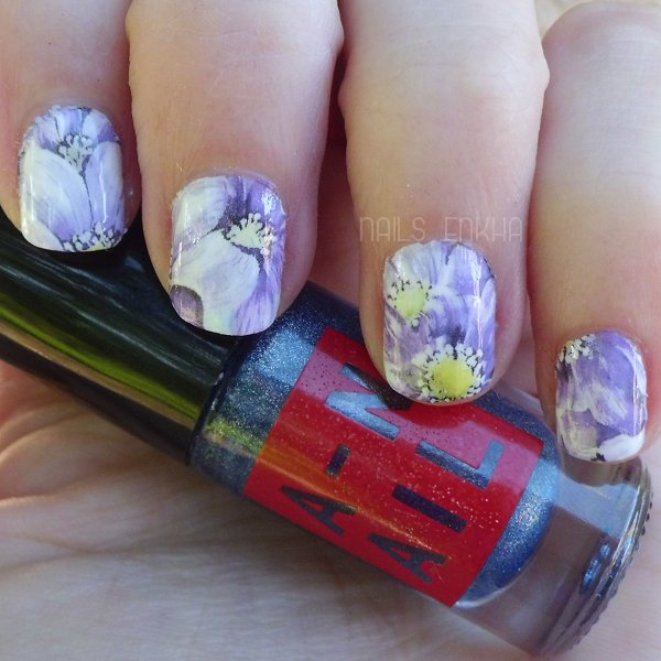 Floral Nail Water Decals