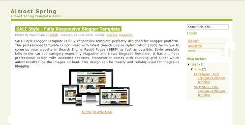 Almost Spring Blogger Template
