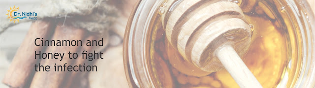 Cinnamon and honey fights acne