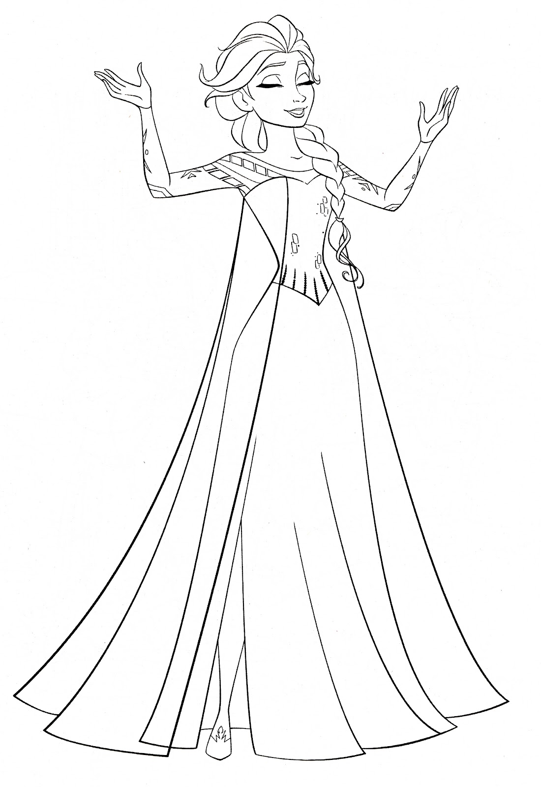 Best Free Disney Frozen Character Coloring Pages Free