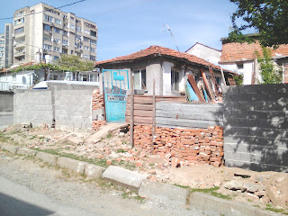 Brick, concrete, wood, metal, Wall, Yambol,