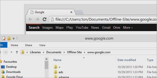 كيفية تنزيل مواقع كاملة للتصفح دون اتصال بالانترنت بطريقتين