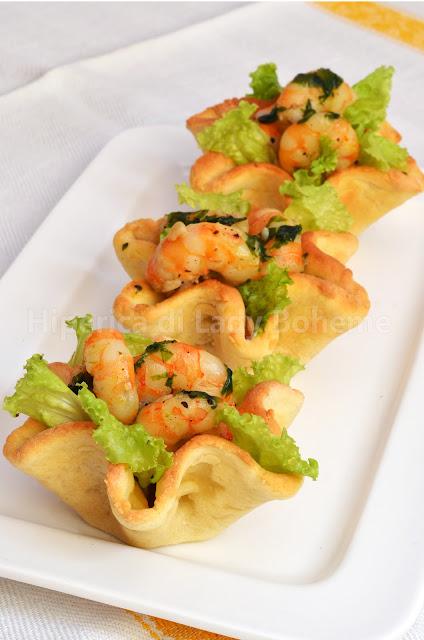 Hiperica di lady boheme cestini di pasta sfoglia con for Ricette cucina facili