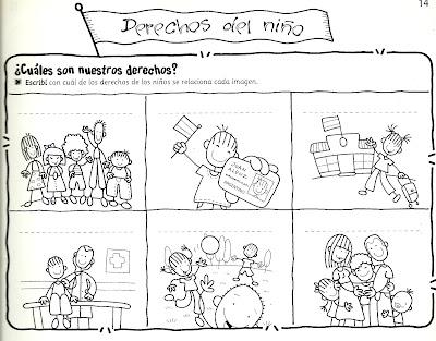 Resultado de imagen para derechos para completar de los niños