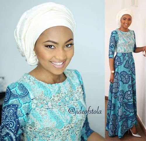 President Buhari Daughter Zahra Buhari look  gorgeous