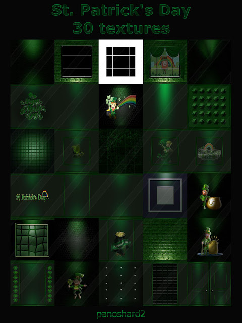 TEXTURES IMVU FOR SALE: St  Patrick's Day 30 textures for imvu room