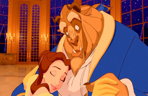 Belle and Beast Beauty and the Beast 1991 animatedfilmreviews.blogspot.com