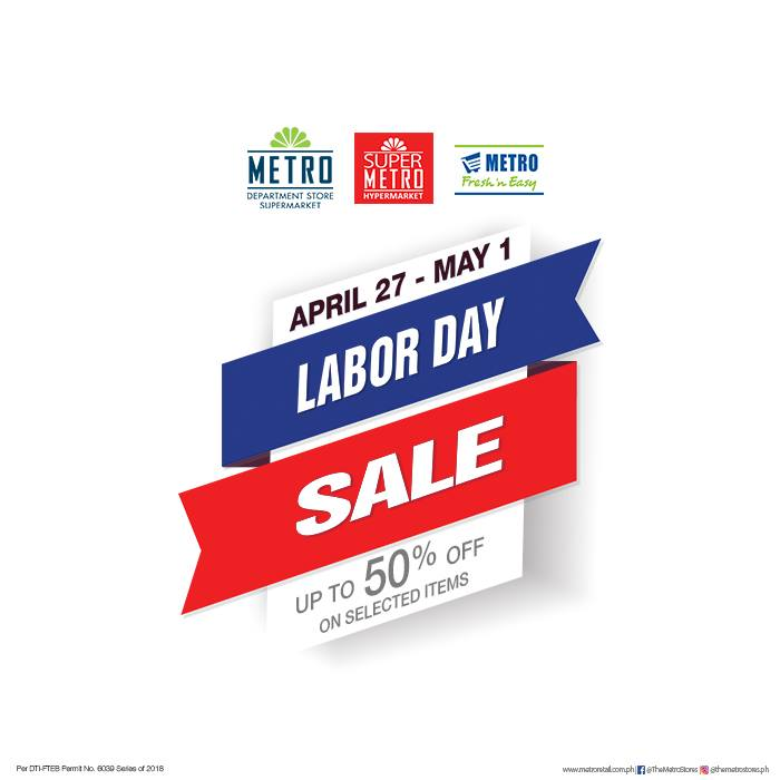 Manila Shopper Metro Labor Day Weekend Sale 2018