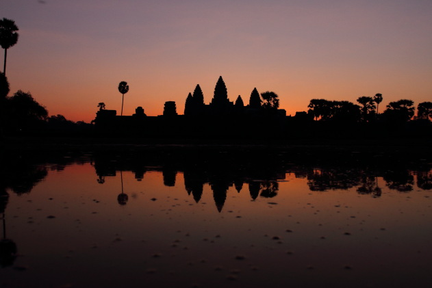 The famous Angkor Wat Sunrise