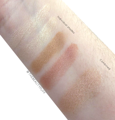 beauty professional highlighter swatch - the beauty puff
