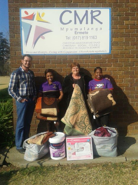 Hollywoodbets Ermelo staff delivered some much-needed items to their local CMR Ermelo branch