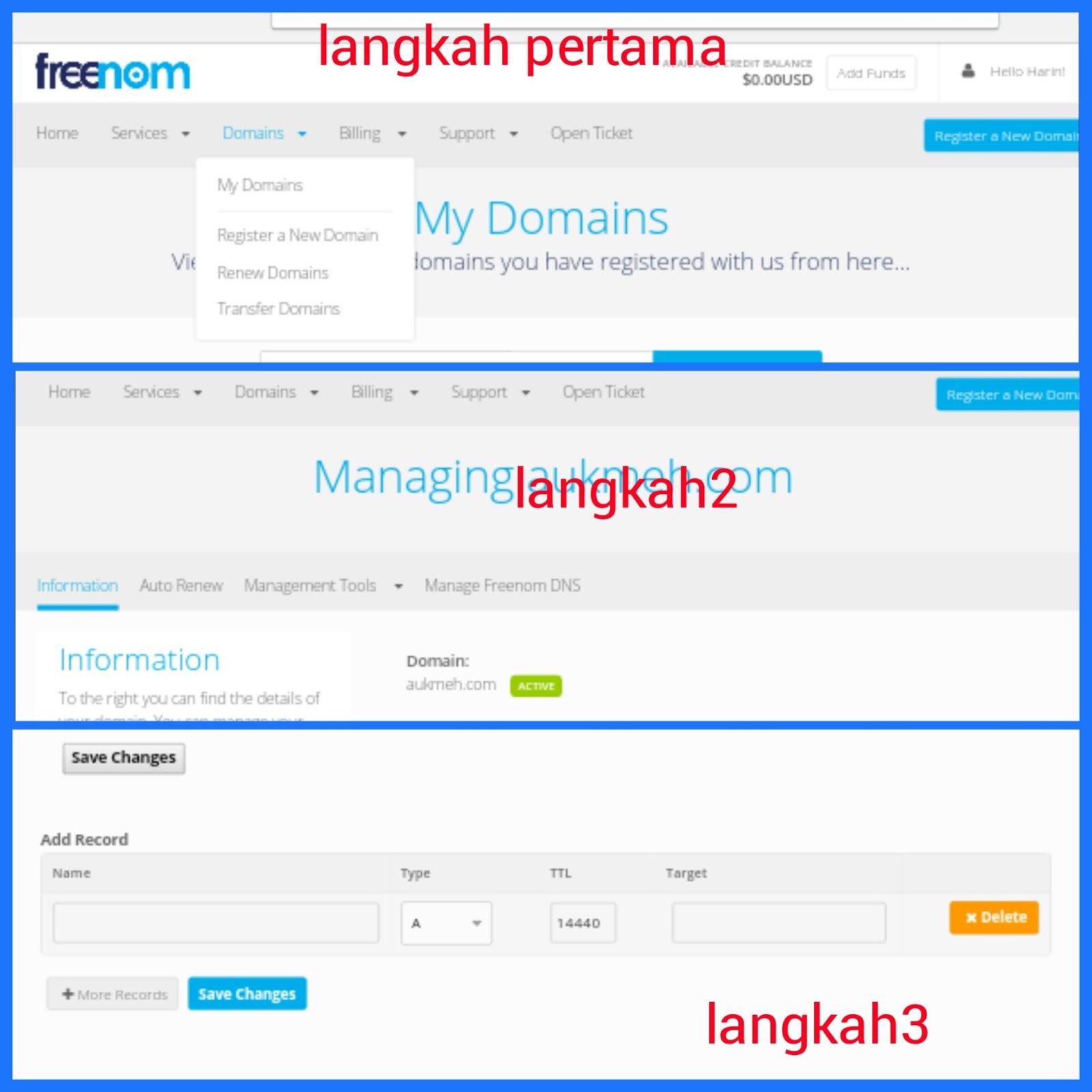 Ganti Domain Blogspot Gratis Di Freenom Auk Meh