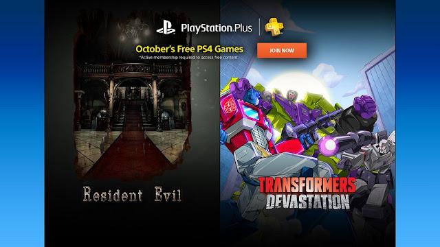 Revelados los juegos del Playstation Plus de octubre de PS4: Resident Evil entre ellos