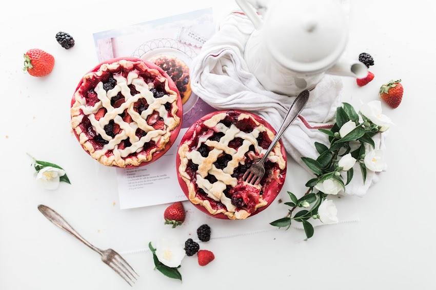 Pie Berry On White