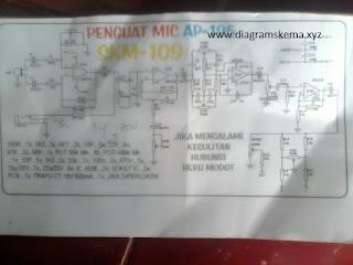 Rangkaian Penguat Mic 4558
