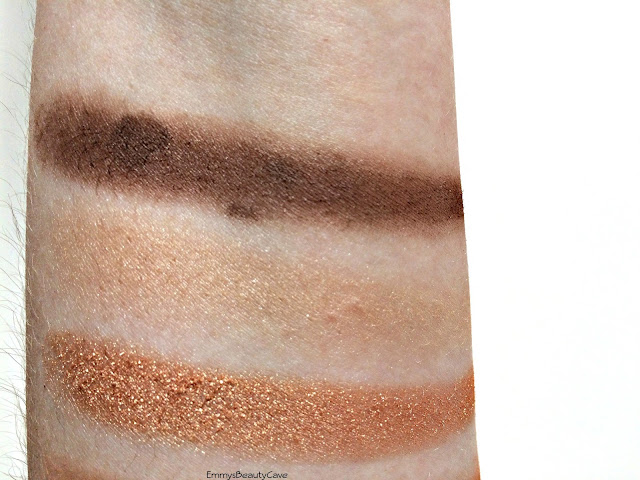 Crown Brush French Riviera Eye Shadow Trio swatches