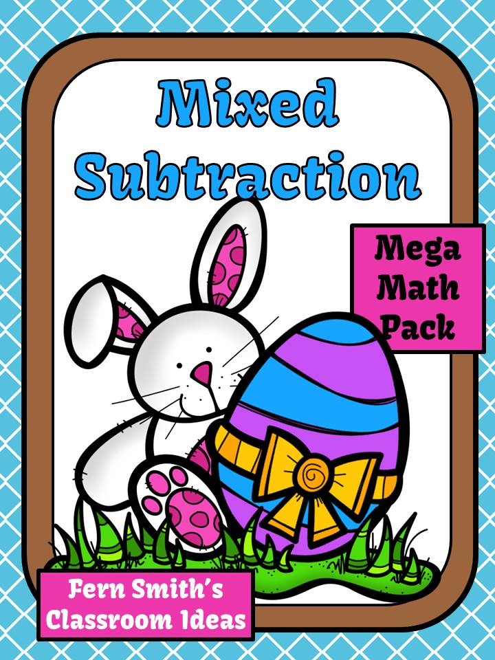 Fern Smith's Mixed Addition Spring Task Cards and Printables for 1.OA.6 and 2.OA.2 on TPT.