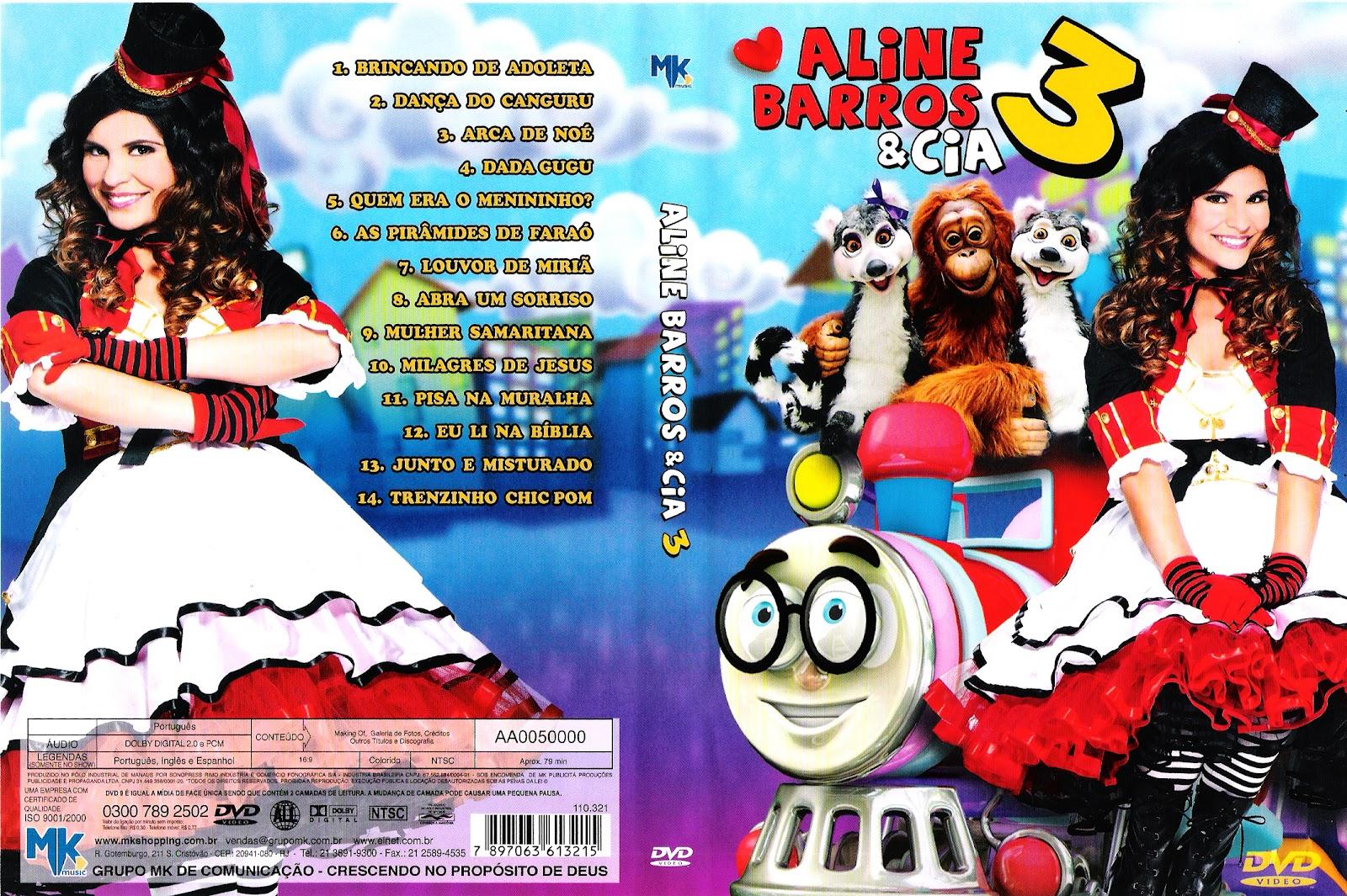 Aline Barros Aline Barros & Cia 2 vecostar - capas de dvd's: capa dvd - aline barros & cia 3