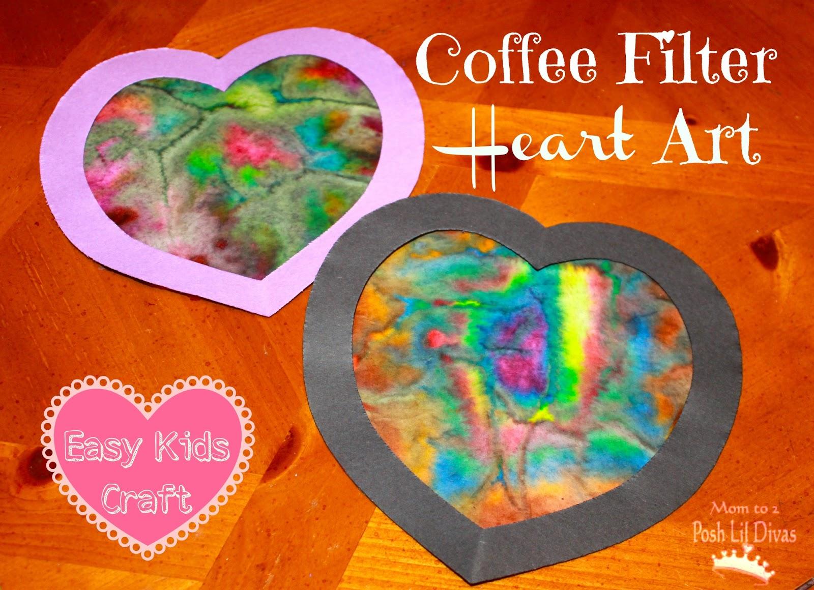 Coffee Filter Heart Art