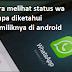 Cara melihat status wa tanpa diketahui pemiliknya di android