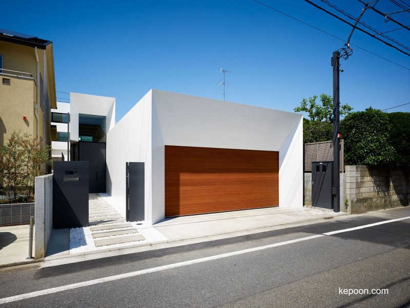 Casa contemporánea japonesa urbana estilo Minimalista