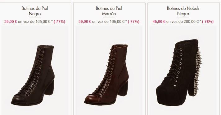 Botines de piel a 39 euros