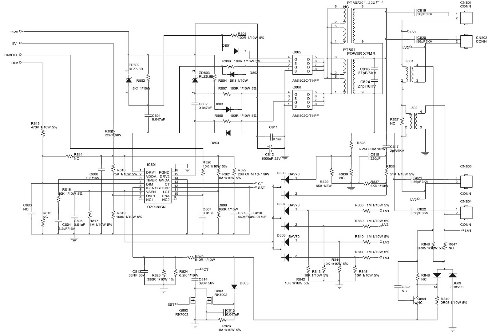 Electro help: 715T 2783 SMPS circuit diagram
