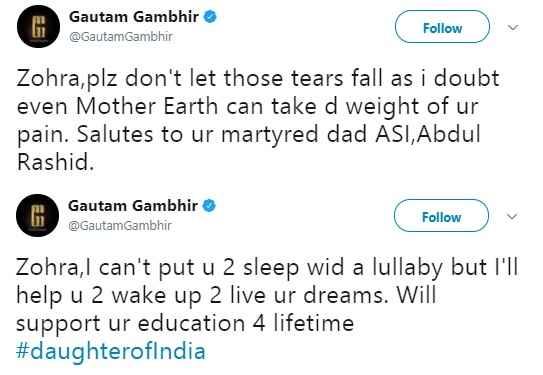gautam-gambhir-zohra-news