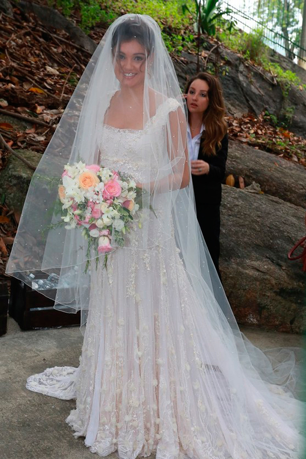 Sophie Charlotte vestido de noiva , casamento